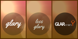 less glary is less pain - GLARminY is the least pain
