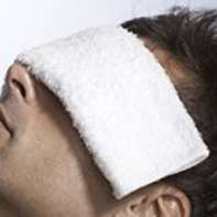 How to reduce eye strain with a towel.