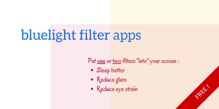 how to sleep better at night - bluelight filter app