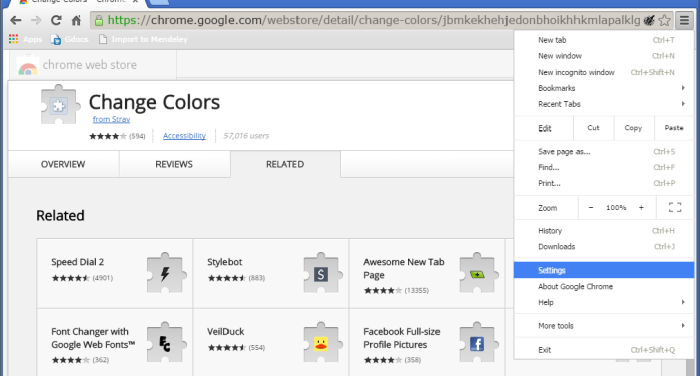 How to change Google Chrome background color and text color - Settings