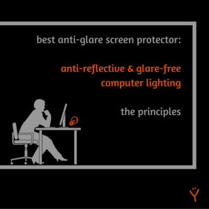 Best antiglare screen protector - Glare free computer lighting – The principles - Title