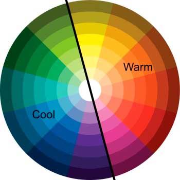 Eye strain headache screen glare-Color wheel Cool v Warm