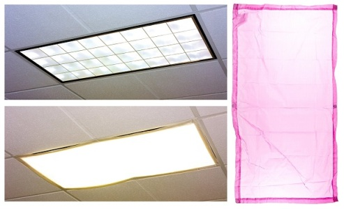 fluorescent light sensitivity-fabric glare screen filter