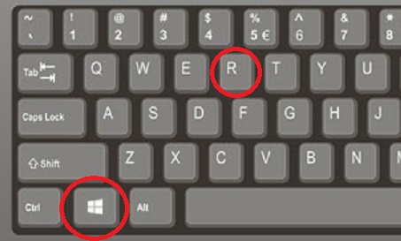 Windows 10 change color - keyboard Win+R
