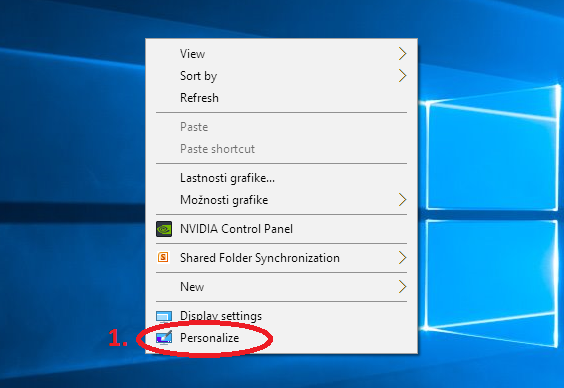 Windows 10 change colors desktop right click menu