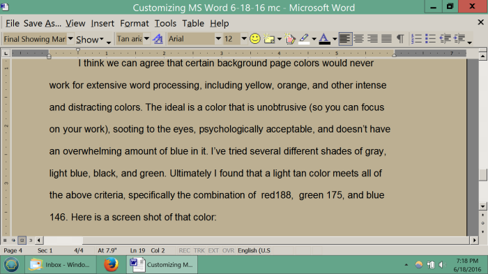 eye-strain-writers-editors-word-editor-best-backgournd-color-light-tan