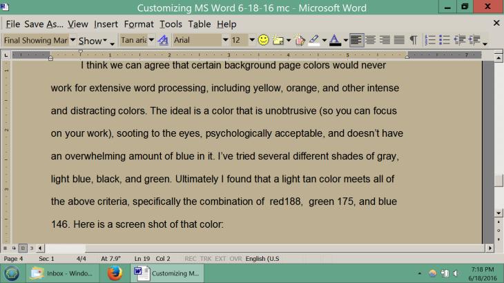 eye-strain-writers-editors-word-editor-best-backgournd-color-light-tan