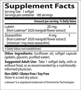 Lutein-zeaxanthin-meso-zeaxanthin eye supplement_doctors best Lutein_Supplement Facts
