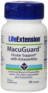 Lutein-zeaxanthin-meso-zeaxanthin eye supplement_Life Extension MacuGuard