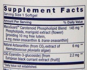 Lutein-zeaxanthin-meso-zeaxanthin eye supplement_Life Extension MacuGuard_Supplement Facts