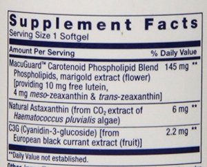 Lutein-zeaxanthin-meso-zeaxanthin eye supplement_Life Extension MacuGuard_Supplement Facts