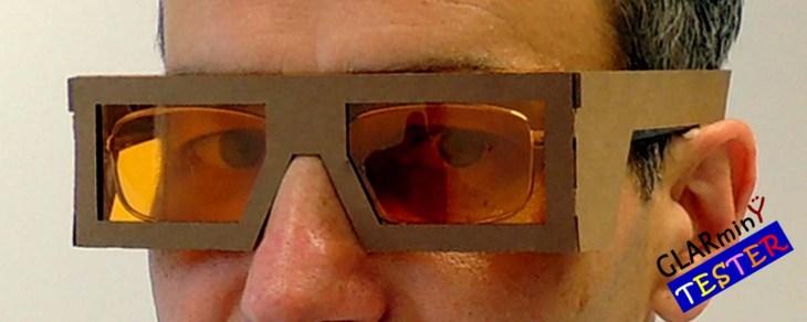 Blue light filter tester-over prescription glasses L