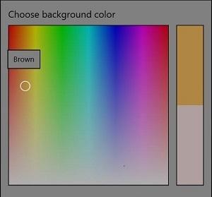 Windows 10 change colors Choose color dialog box - rainbow