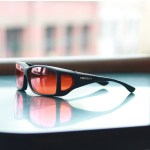 Special glasses for macular degeneration vs over-glasses - cocoons fit-overs orange