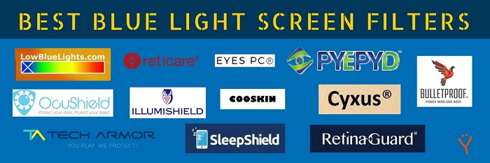 Best blue light screen filters Reduced