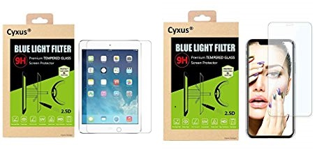Cyxus blue light screen protector - Apple iPad and iPhone