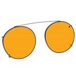 Special glasses for macular degeneration vs over-glasses - NoIR orange clip-ons